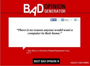 bad opinion